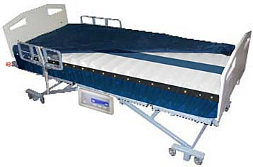 integrated bed u0026 alternating pressure mattress system with true low air loss power pro with integrated pump