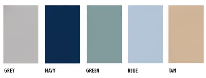 nylon color chart