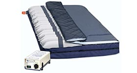 Rapid-Air™ Alternating Air Flotation mattress overlay with Low air loss